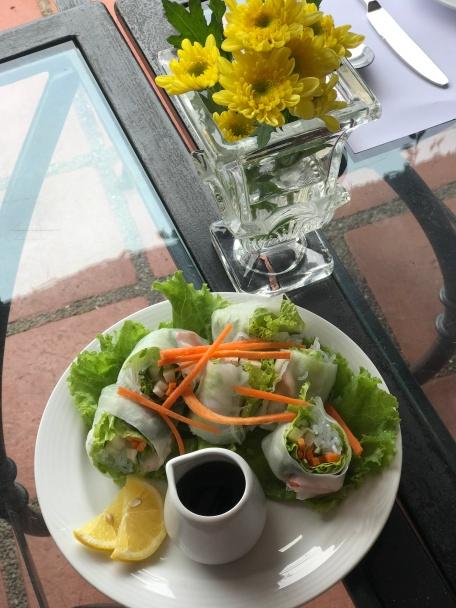 Very bland Vietnamese Spring rolls.