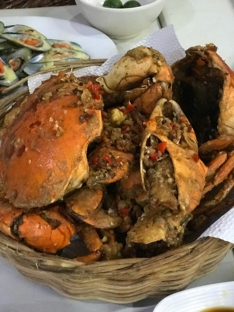 Don't miss the deep fried crab!